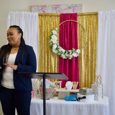 Spoken Word Artist at The Glow Up Women's Empowerment Brunch